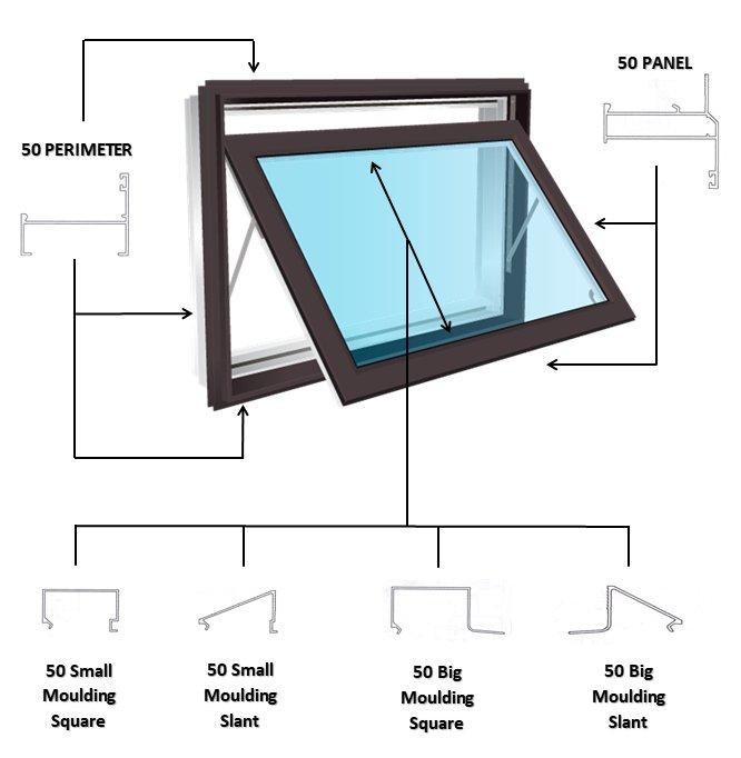 acumaster 50 series aluminum windows