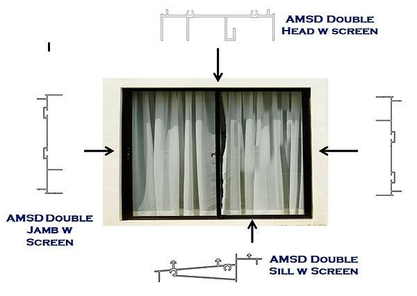 AMWD aluminum window series