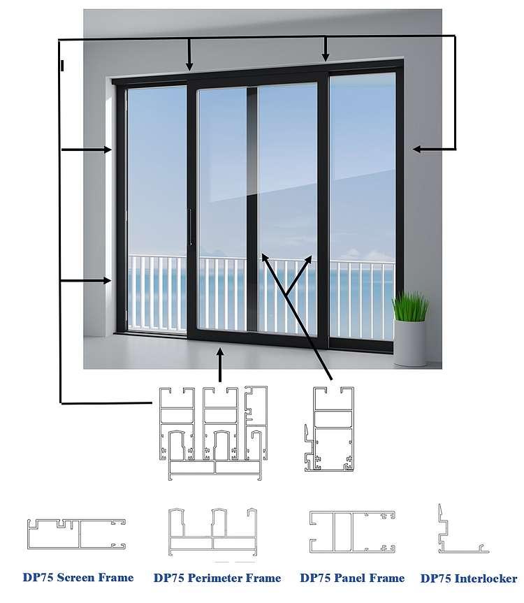 acumaster premium 75 sereis aluminum doors and windows