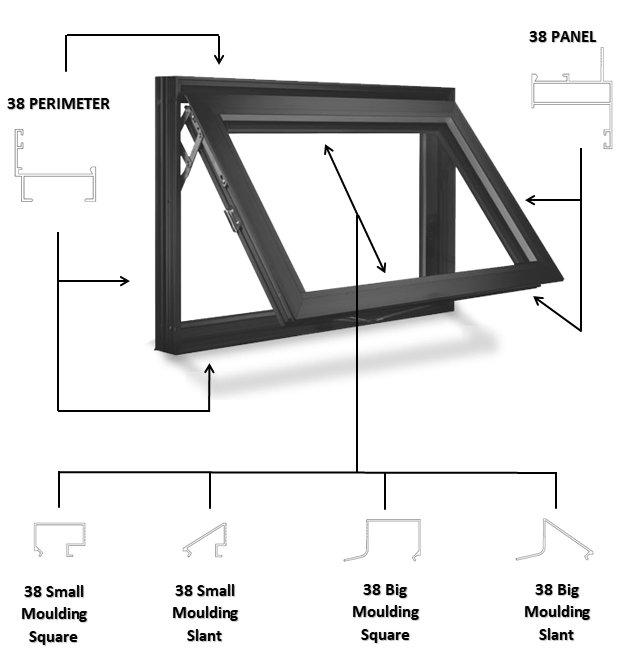 38 series aluminum windows