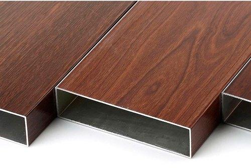 wood finish aluminum surface
