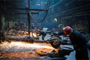 Aluminum factory at work