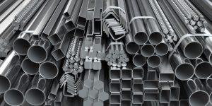 Different sizes of aluminum